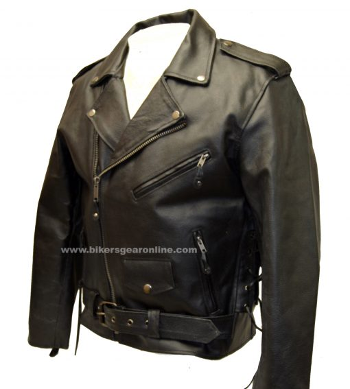 Mens leather cowhide ce armoured motorcycle jacket