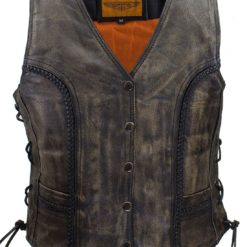 Womens Brown Distressed Leather Jackets