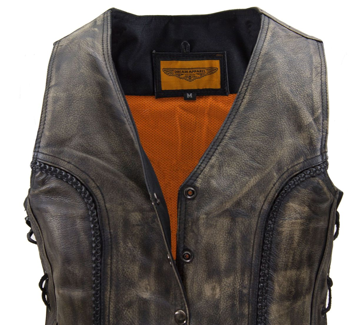 Womens Motorcycle Distressed Leather Jacket