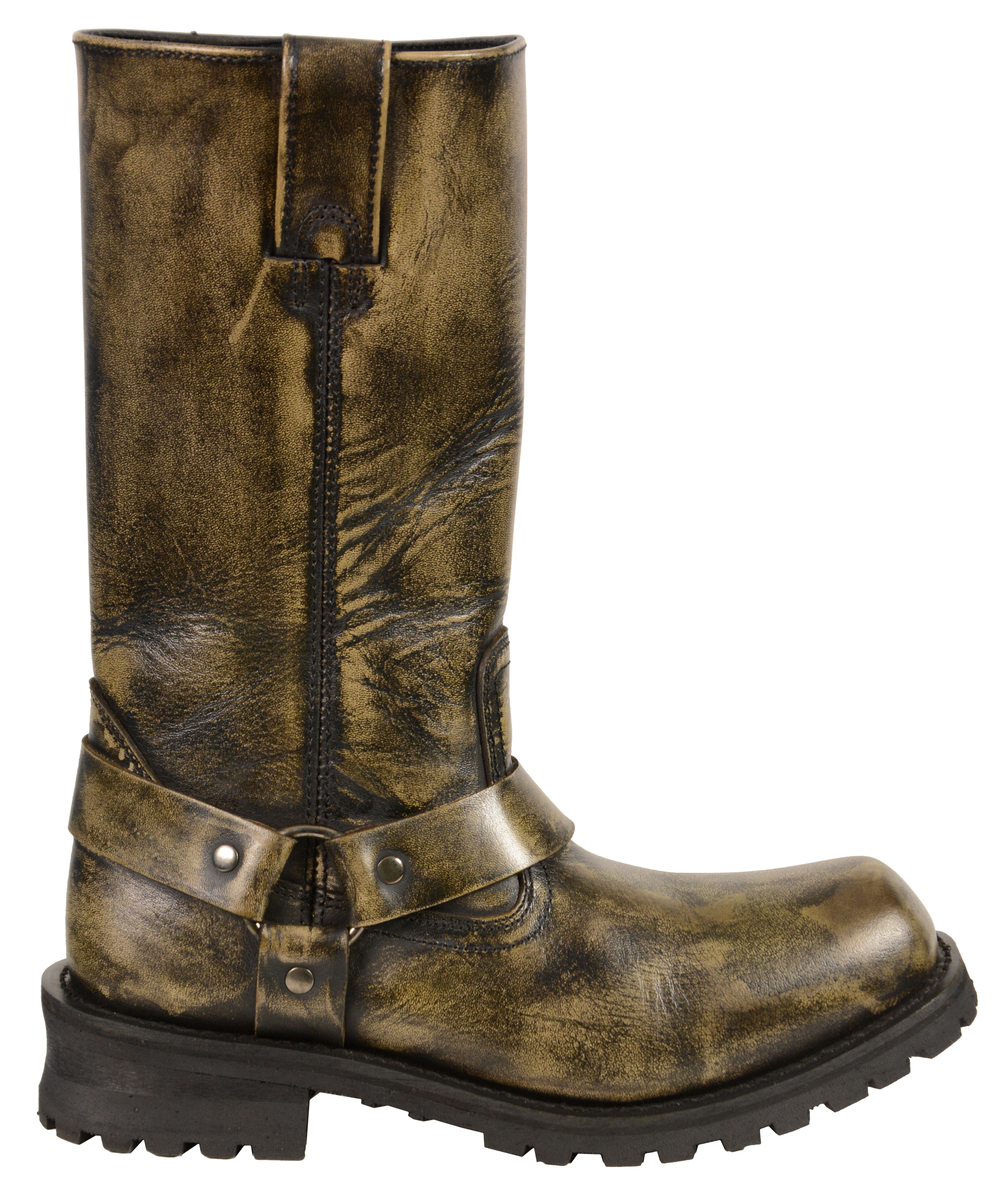 3ef0cf337d0 MEN S MOTORCYCLE GENUINE LEATHER DISTRESSED BROWN 11 INCH BOOT ...