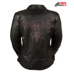 Embroidered Leather Motorcycle Jackets
