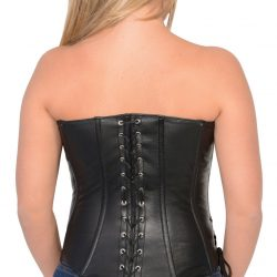 3fa9bae56fa WOMEN S BLK SEXY BUSTIER CORSET LINGERINE HALTER TOP WITH FRONT SIDE ...