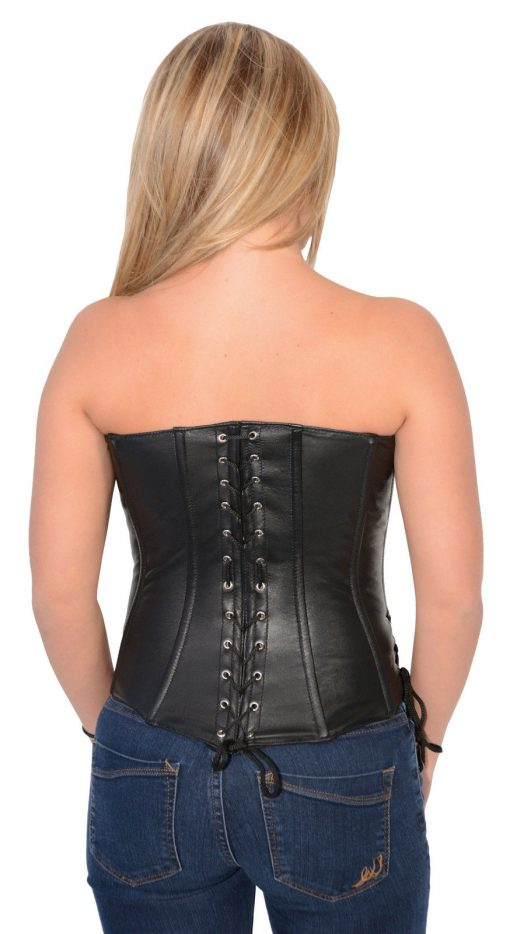 leather biker corsets