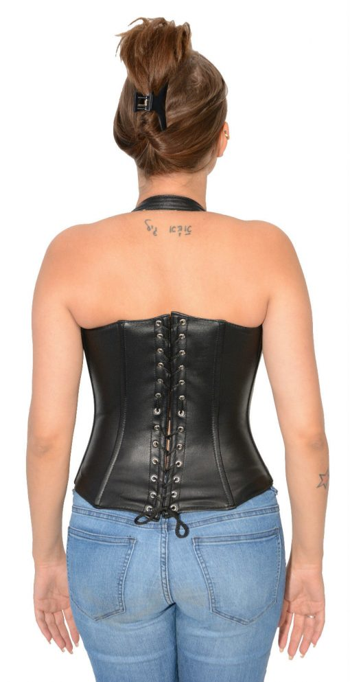 Leather Corset tops lace up back