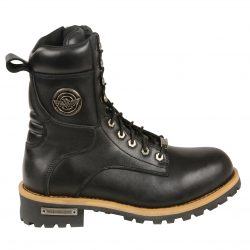 mens laced biker boots
