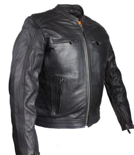 mens leather scooter jacket