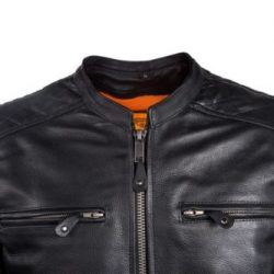 Mens Scooter Black leather jacket