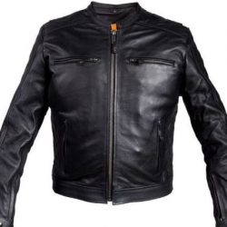 Mens Scooter Leather Jacket Image