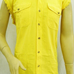 mens sleeveless Motorcycle shirts yellow