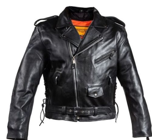 Motorcycle Scooter leather jacket mens