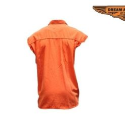 Orange Motorcycle Shirts Mens