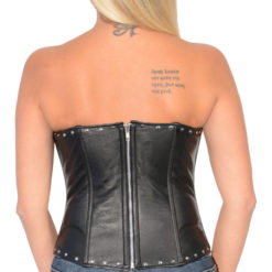 sexy biker clothes leather bustier