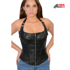 Womens Biker Corsets back laces