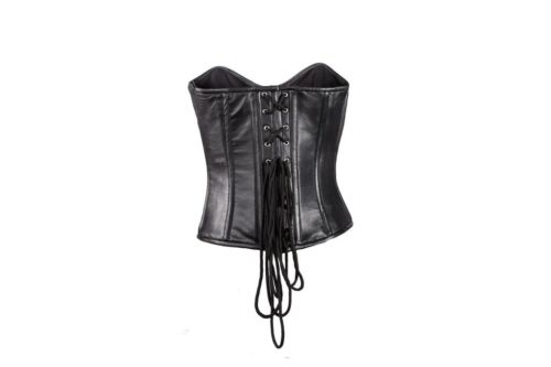 Womens biker leather Corsets black sexy