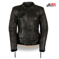 Womens Black Motorcycle Leather Jackets