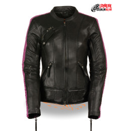 womens stylish leather jacket