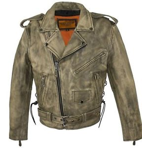 Brown mens leather jackets Bike riders