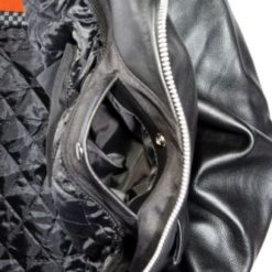 classic mens leather jacket cowhide