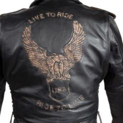 Live to Ride Ride to Live Leather Jacket