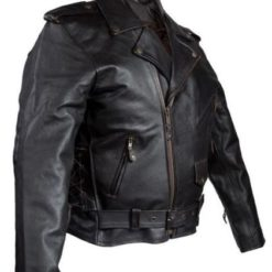 mens cowhide leather motorcycle jacket