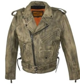 mens rider motorcycle leather jacket