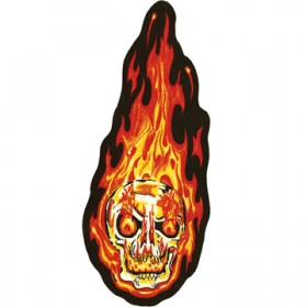 Flaming Skull Patches for Back Vest