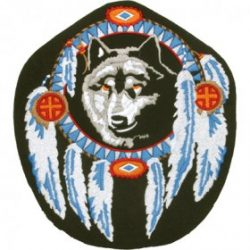 Wolf Head Patches