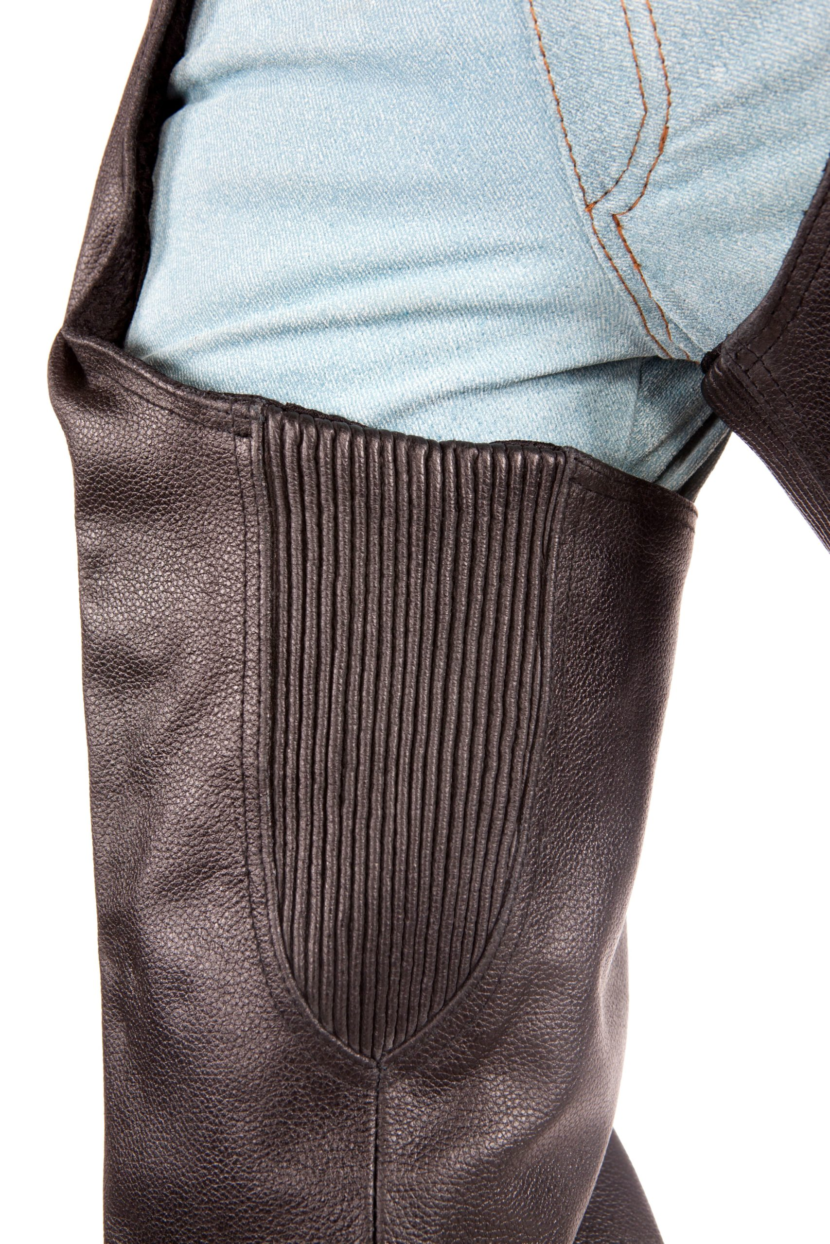 Bike Riding Chaps Braided Leather