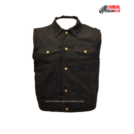 Black denim vest mens