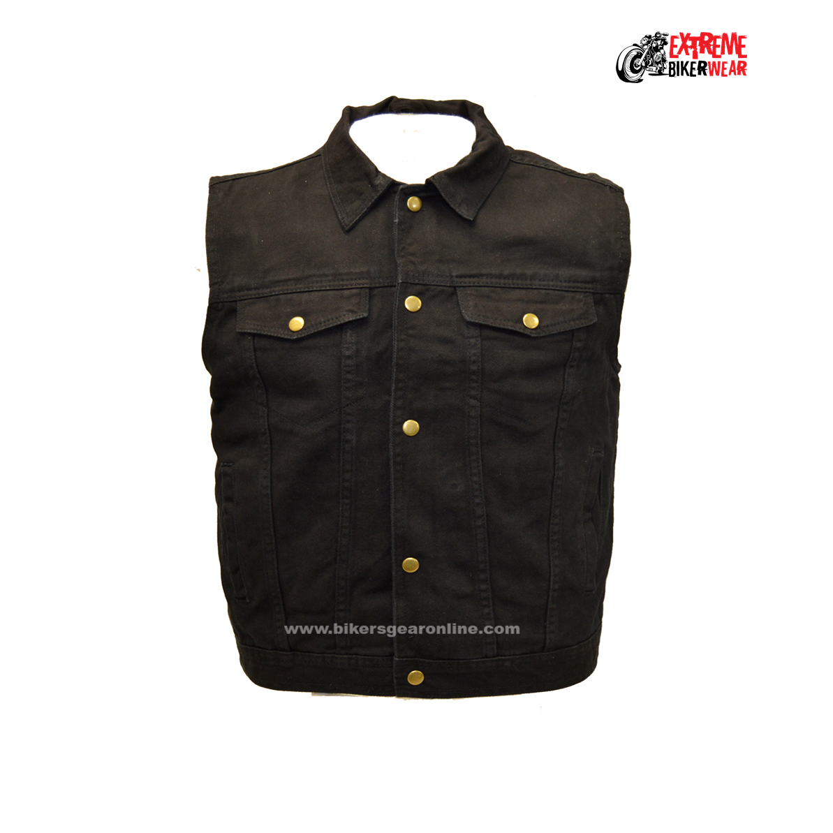 New Men's Rock Waistcoat Sons Of Anarchy Black Motorcycle