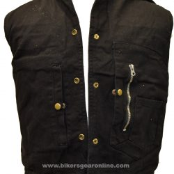 Black Jeans Denim Vest Shirt collar