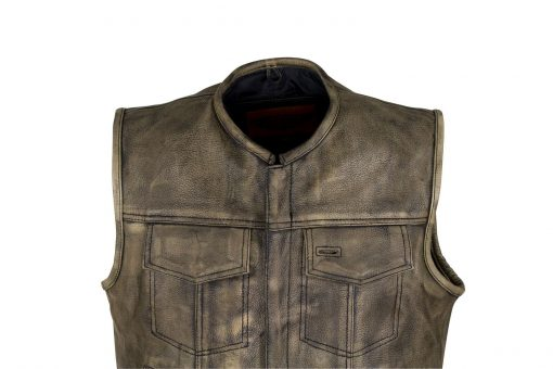 Brown Distressed Motorcycle Jacket