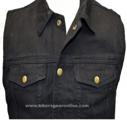Denim black vest Bikers