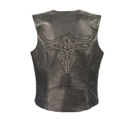 Ladies Leather Studded Jacket