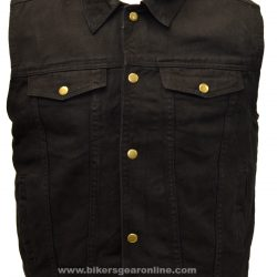 mens black denim vest jacket Collar