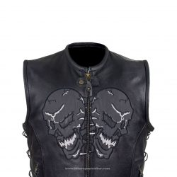 Mens leather motorcycle jackets Skull cheap
