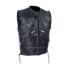 mens skull leather jacket