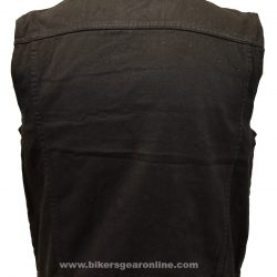 Motorcycle Denim Vest for Men Black