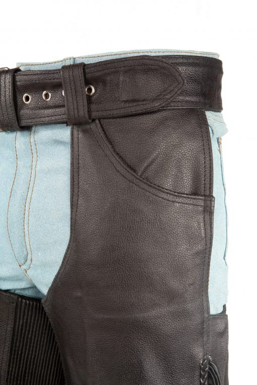 Motorcycle Leather Pants for Bike Riding fringes