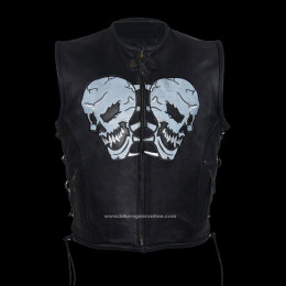 Skulls Mens Black Motorcycle Jackets