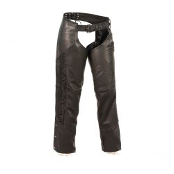 Womens Leather Motorcycle Pants Side Strips