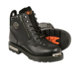 Mens lace to toe Black Leather Boots