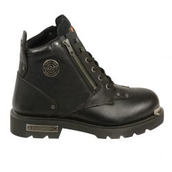 mens lace to toe boots black