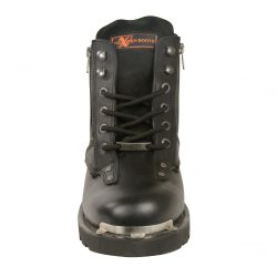 Mens Lace to Toe Leather Motorcycle Boots