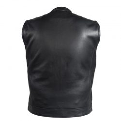 Black Leather Motorcycle Club Vests
