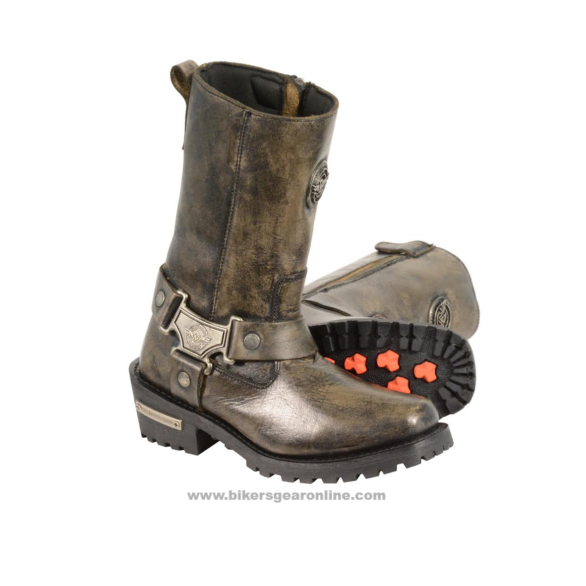 brown leather boots women bike riding
