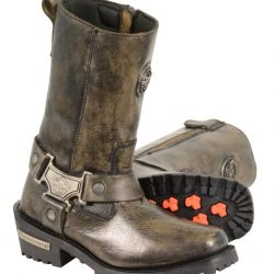 womens distressed motorcycle boots