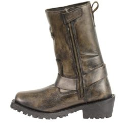 womens leather motorcycle boots brown