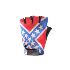 Rebel Flag Fingerless Motorcycle Gloves