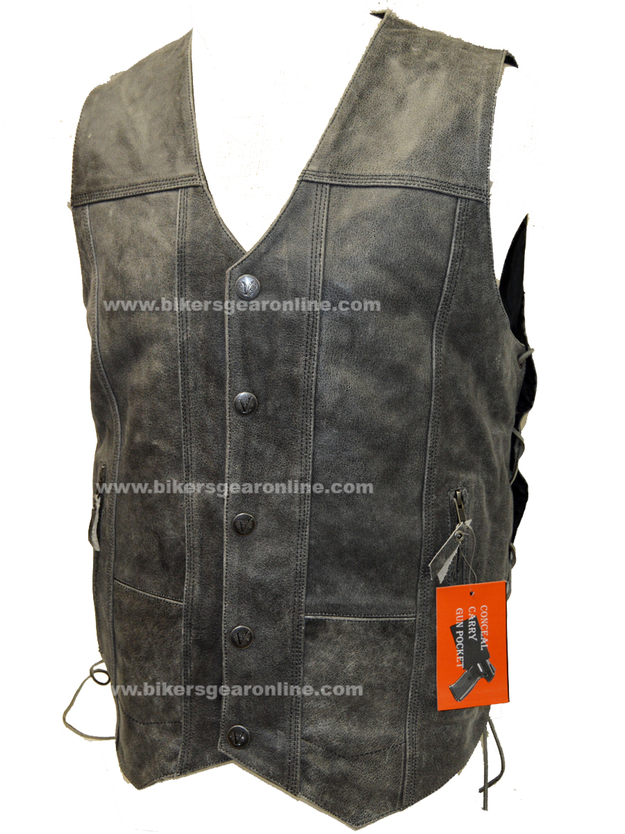 Utility Vest For Mens Gray Color With 10 Pockets